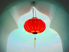 A symbol of good luck and happiness (PeterCH51) Tags: red temple chinese happiness malaysia lantern penang paperlantern goodluck chinesetemple kekloksi chineselantern redlantern airitam 5photosaday airhitam mywinners flickraward peterch51 flickrtravelaward