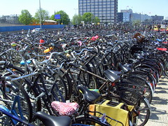 One hour in Amsterdam | A parking lot for 1,100 bicycles! (Davydutchy) Tags: holland netherlands amsterdam bike bicycle june bicyclette fahrrad fiets 2013 fietsplatform