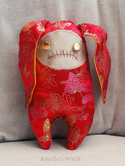 Zombie Bunny Bao (RD1630) Tags: zombie bunny hase toy plushie chinese silk spielzeug handmade handgemacht