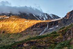 Waterfall (MC-80) Tags: jotunheimen norway sognefjellet sognefjellsveien sogn og fjordane luster bverdalen norwegen sunset light outdoor wasser wasserfall landschaft abhang bach hgel berg waterfall