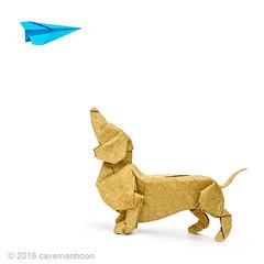 Dachshund - Sketch 1 (cavemanboon*) Tags:  origami cavemanboon boon malaysia singapore paperfolding dachshund dog   hiptobesquare squareformat paperplane