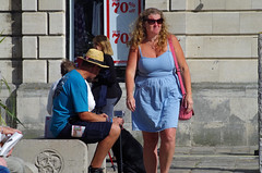 Happy to be at the Seaside (David Blandford photography) Tags: swanage dorset street scene people