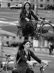 [La Mia Citt][Pedala] (Urca) Tags: milano italia 2016 bicicletta pedalare cicllista ritrattostradale portrait dittico nikondigitale mir bike bicycle biancoenero blackandwhite bn bw 881117