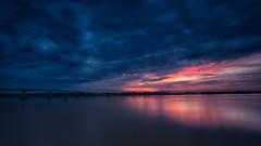 Meekong River Sunrise 3 (RoosterMan64) Tags: bridge cambodia clouds kampongcham landscape longexposure meekingdelta meekongriver river sunrise krongkampongcham kh