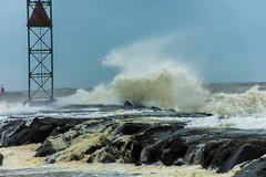 Stormy Seas (Dazed&Konfuzed) Tags: stormyseas waves belmarinlet ocean storm seafoam surge