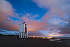 Candy Floss (RattyBoots) Tags: canon1635f4 canon5d3 twilight dusk sunset beach lighthouse pink clouds burnhamonsea somerset august2015