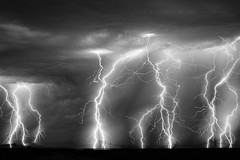 Barrage I (Mike Olbinski Photography) Tags: 20160818 canon5dmarkiii arizona blackwhite canon50mm12l lightning monsoon rain sunvalleyroad thunderstorm