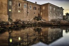 0374 Two Lit Windows (Hrvoje Simich - gaZZda) Tags: sea water refelection sky stones windows light sunrise croatia krk longexp nikon nikond750 nikkor283003556 gazzda hrvojesimich