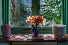 Serenity (hehaden) Tags: flowers vase windowsill window nt nationaltrust monkshouse rodmell sussex virginiawoolf