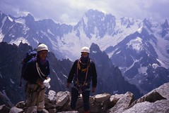 Top of the West Face, Petit Dru (andywalker1) Tags: andrewwalker americandirect dru petitdru chamonix alps alpineclimbing