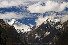 Diran Peak - 7,266 m (AQAS) Tags: hunza gilgit kkh mountains clouds light landscape ancient history nature colors hill river mountainside grassland indus nagar diran peak valley