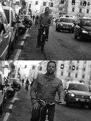 [La Mia Citt][Pedala] (Urca) Tags: milano italia 2016 bicicletta pedalare ciclista ritrattostradale portrait dittico nikondigitale mir bike bicycle biancoenero blackandwhite bn bw 88192