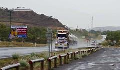 Isa Rain (LeoBluMayer) Tags: rain roadtrain transport