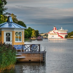 A Harbour view (JTc (Jari)) Tags: jtc suomi finland turku harbour ship landscape pier cazebo sea clouds cruise