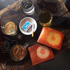 Up Leather (flower wallet leather) (ATnow) Tags: sun flower wallet leather leathers hand handmade handcrafted veg vegtan vietnam