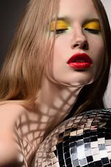 mirror ball beauty (pt1) (ilyich_ph) Tags: ifttt 500px beauty portrait makeup studio light mirrorball red lips yellow profoto