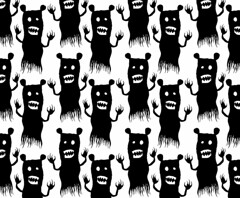 Bear-ghost pattern (Don Moyer) Tags: ghost bear ink drawing pattern notebook moyer donmoyer brushpen audition