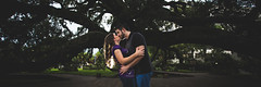 Three One Crop (Adam Szarmack) Tags: engagement couple kiss treaty oak jacksonville 3x1