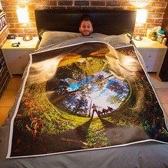 Just got a not-so-little gift from my friend Chris in Canada.. it's my photo! And that's my bed. LOL. He tells me it's printed with fade resistant inks for indoor/outdoor use and is supposed to last for years. Anyone have a spare wall I can borrow??? (LIFE in 360) Tags: lifein360 theta360 tinyplanet theta livingplanetapp tinyplanetbuff 360camera littleplanet stereographic rollworld tinyplanets tinyplanetspro photosphere 360panorama rollworldapp panorama360 ricohtheta360 smallplanet spherical thetas 360cam ricohthetas ricohtheta virtualreality 360photography tinyplanetfx 360photo 360video 360