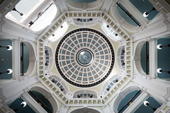 Cunard Building, Liverpool 2016 (Gord McKenna) Tags: gordmckenna gord mckenna cunard building liverpool european vacation united kingdom uk architecture ceiling vertical circle blue white railing sony