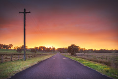 Road To Sunrise || CASTLEREAGH || NSW (rhyspope) Tags: australia aussie nsw new south wales canon 5d mkii castlereagh penrith nepean hawkesbury rhys pope rhyspope sunrise road street avenue farm rural country
