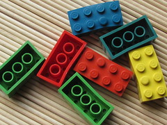 Small lot of deformed 7xC Bayer test bricks (Fantastic Brick) Tags: lego 2x4 7xc bayer test brick heat deformed