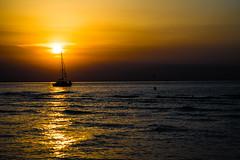 ENJOY (wolfi8723) Tags: boat sunset wasser warnemnde