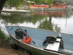 1966 Traveler at Patagonia Lake (hector.acuna) Tags: 1966traveler aluminum lake state park arizona dingy fishing rowboat patagonialakestatepark