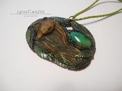 Summer Breezes (LynzCraftz) Tags: polymerclay resin pendant jewelry necklace oneofakind handmade