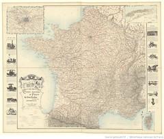 1900. Carte routire de France de Dion Bouton spciale pour automobiles (foot-passenger) Tags: dionbouton  dedionbouton bnf gallica bibliothquenationaledefrance