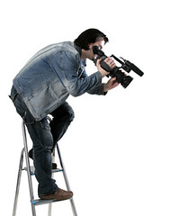 isolated working cameraman (shyamsundera) Tags: video operator film camera aiming sound professional home crew isolated recording media shot television occupation filming shooting expertise tv industry male equipment photographer men medium background actor image footage white movie studio reporter director fame microphone information working documentary broadcasting sequence photo one technology cameraman man person paparazzi stepladder