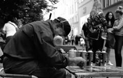 street (Yaman Konuralp) Tags: diy travel journey nikon nikonf nikkor nikonians 35mm film 50mm f2 ai analog vintage grain blur iso noise agfa apx 100 dark contrast shadow street streetphotography urban city people artist faces portrait portraiture rodinal hc110 r09 nipponkogaku copenhagen denmark