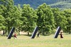 Monoliths (BrianGoPhoto) Tags: green monolith monoliths outdoor outside sculpture sculptures stormking support trees