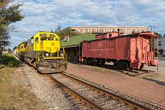 Pompton Lakes (sullivan1985) Tags: nysw susquehanna susieq caboose pomptonlakes pompton emd sd60 yellowjacket station trainstation westbound freight freighttrain nysw3806 nysw3800 nysw3808 su99 binghamton nj newjersey newyorksusquehannawestern southerndivision
