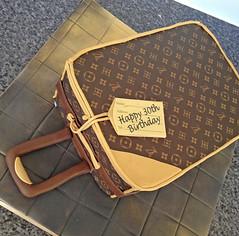 Louis Vuitton Suitcase Cake