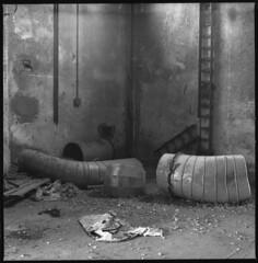Worms (Balthus Van Tassel) Tags: urban metal industrial pipes cap crap ladder abandonment ravenna