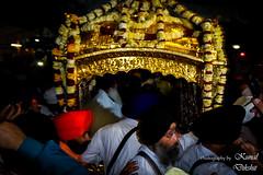 The Palki Sahib Ceremony (The world through my viewfinder) Tags: india sikh amritsar sikhism goldentemple punjabi harmandirsahib gurugranthsahib akaltakht insidegoldentemple palkisahib palkisahibceremony