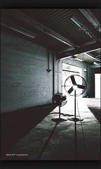 Petit Frère (Geoff ☆ RT Ficiel ☆) Tags: old light plant brick wall fan nikon decay tokina1224 dust ue urbex d300