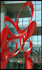 Venture Sculpture In front of Bank of America Plaza Downtown Dallas(dismantled and removed from the property April 6, 2013.)  Photographed April 5, 2013 (Dallas photographer Scott Dorn) Tags: art d50 dallas texas venture dismantled relocated bankofamericaplaza alexanderliberman april5 cortensteel 2013