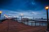 Morning Blue's, Pier 7 san francisco (anishsid) Tags: sanfrancisco longexposure blue night sunrise twilight nikon cloudy tokina1224 tokina hour bayarea bluehour pier7 gnd tokina1224mm ndgrad 1224f4 leefilters d7000 nikond7000