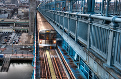 Outbound (Rob Lybeck) Tags: train tracks benfranklinbridge patco philapa roblybeckphotographer