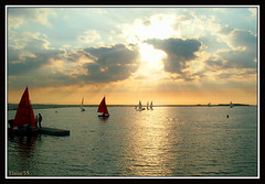 West Kirby Sundown (Elaine 55..) Tags: sunset lake sailing westkirby greatphotographers frameit frameitlevel3 frameitlevel2 frameitlevel4 frameitlevel5 frameitlevel6 frameitlevel7