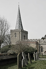 St Nicholas Church - Stevenage - Herts (Nikon D7100) (markdbaynham) Tags: uk church st digital nikon nicholas cropped format dslr stevenage sensor dx apsc d7100 hertfordshiire