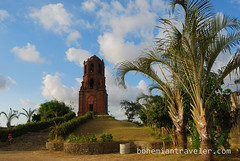 view of St Augustine bell tower Bantay (BohemianTraveler) Tags: old city horse heritage architecture island town site asia pacific district philippines colonial chinese unesco mexican spanish filipino sur vigan ilocos kalesa luzon calesa mestizo
