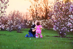 Kiddos 2 (SLewis Photography) Tags: spring blossoms magnolias 17months kiddos april2013 saralewisphotography wwwsaralewisphotographycom deannarosechildresfarmstead