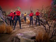 1967 ... more red-shirt victims! (x-ray delta one) Tags: sf mars illustration vintage ads advertising space ad astronaut ufo aliens retro nasa nostalgia 1940s 1950s spacestation scifi americana sciencefiction spaceship 1960s outerspace tomorrowland atomic populuxe rocketship cosmonaut coldwar thefuture aerospace cccp worldoftomorrow flyingsaucers spacerace spaceexploration warpdrive jamesvaughan
