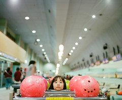 Shall we go bowling? (Toyokazu) Tags: family portrait girl beautiful kids child bowling photogenic pentax67