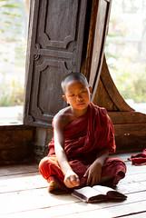 Pensive (Ben-ah) Tags: burma monk buddhism monastery myanmar shweyaunghwemonastery