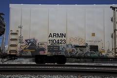 PHRITE (bkuz2013) Tags: california railroad train graffiti unionpacific graff westcoast freight trackside freighttrain freights phrite armn freightyard intheyard benching freighttraingraffiti fr8heaven