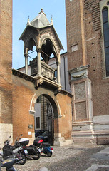 Parked Up (Jocey K) Tags: sky italy building church architecture bikes worldheritagesite verona santanastasia cosmostour6330